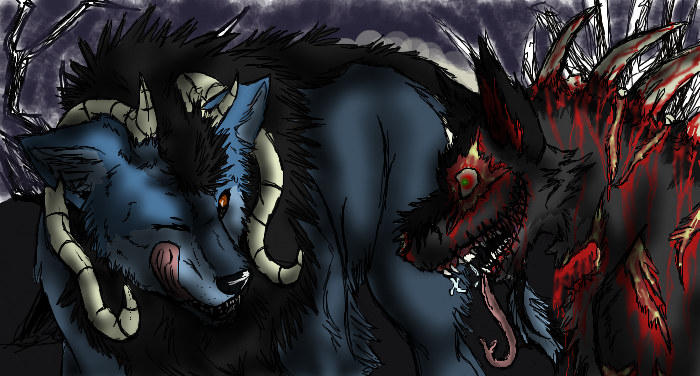 demons girls Animes wolf