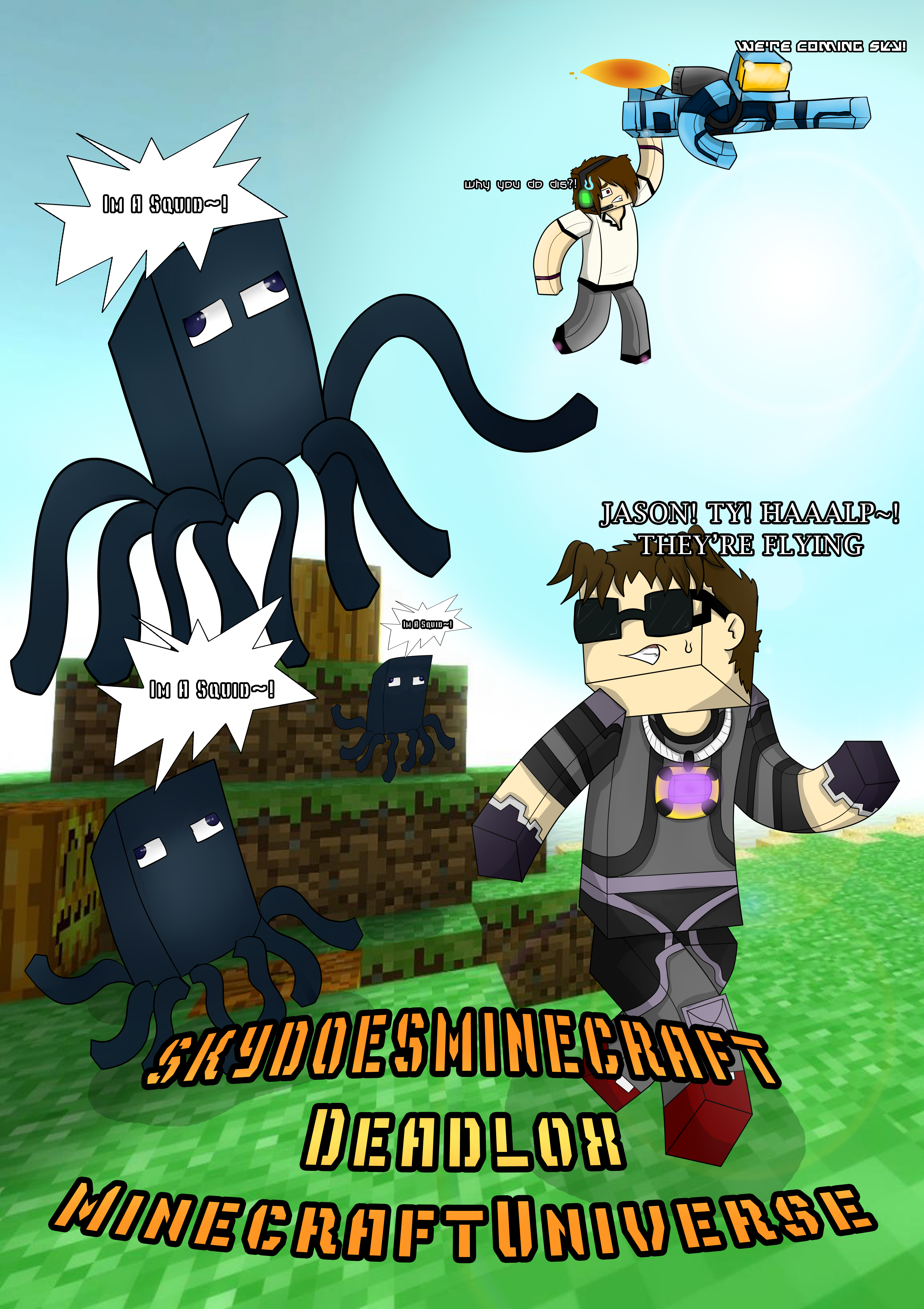 skydoesminecraft minecraftuniverse and deadlox by