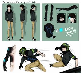 Cyberpunk AU: Reference Sheet