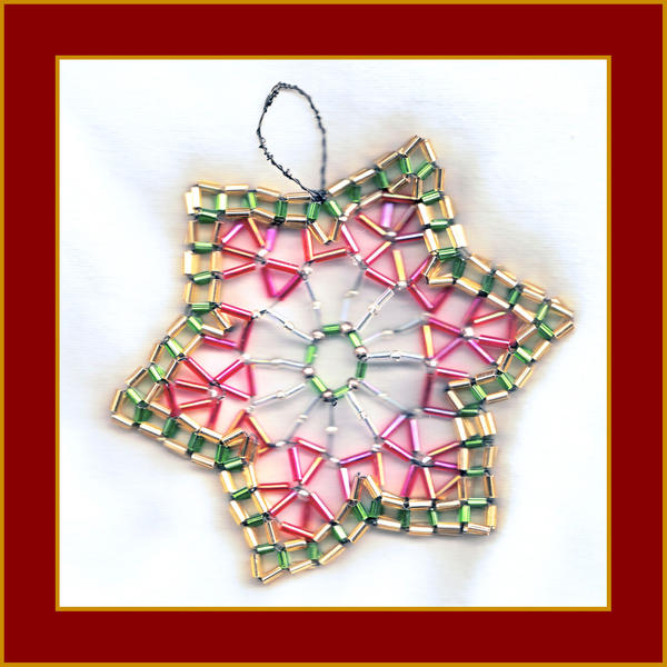 Beaded Star Ornament by Loucife