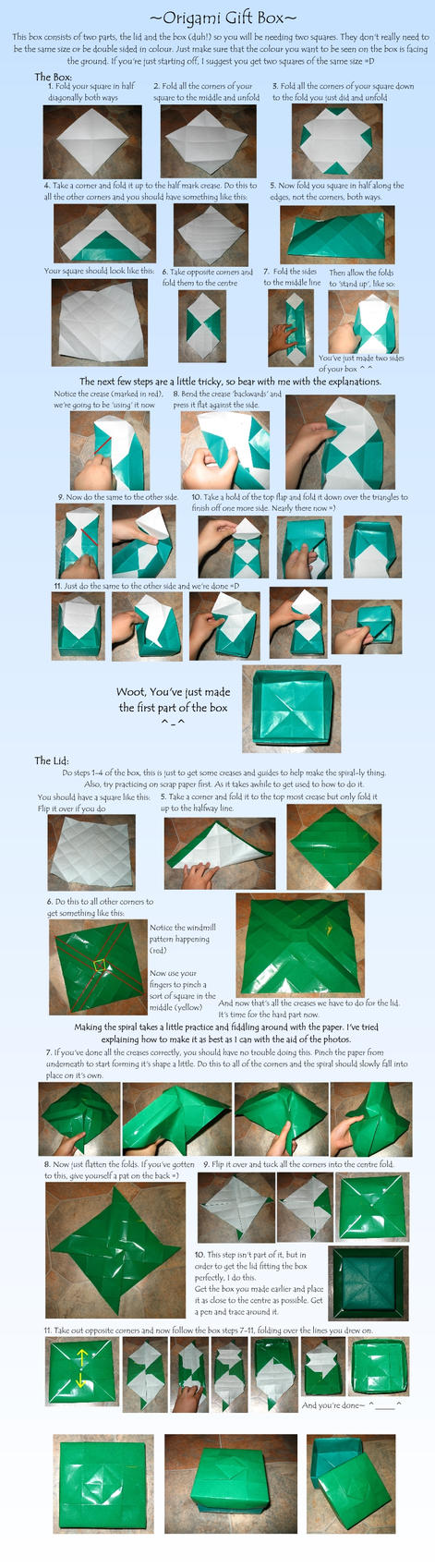 TUTORIAL: Origami Gift Box by Loucife