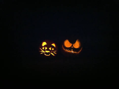 Kitty Cat and Jack! The Pumpkin King!