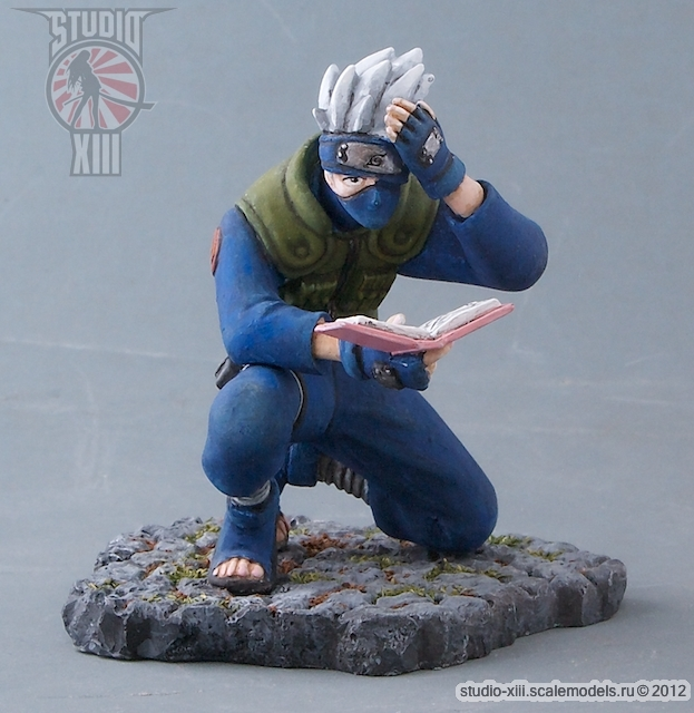 Kakashi-sensei from Naruto anime resin gashapon by Michael-XIII