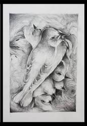 Bluebirds Fly by AppleLove