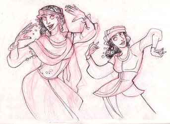 Webcomic - TPB - Skecth_daily - 7 - dancers by Dedasaur