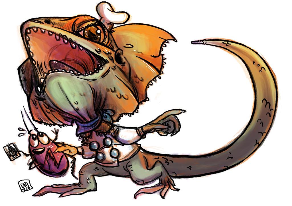 Frilling Gordon Lizardesay by Dedasaur