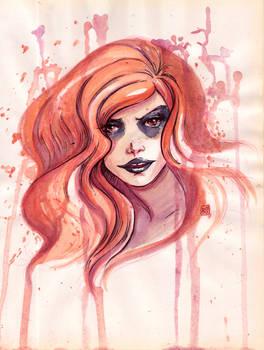 Watercolor July Circe