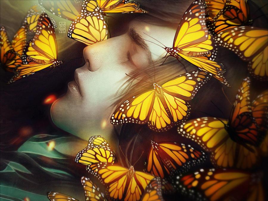 Sleeping With Butterflies by tincek-marincek