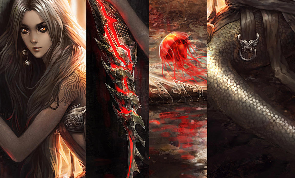 Mermaid's Wisps...details by tincek-marincek