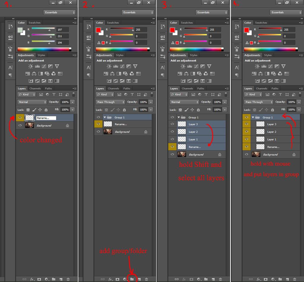 Photoshop basics2-groups by tincek-marincek