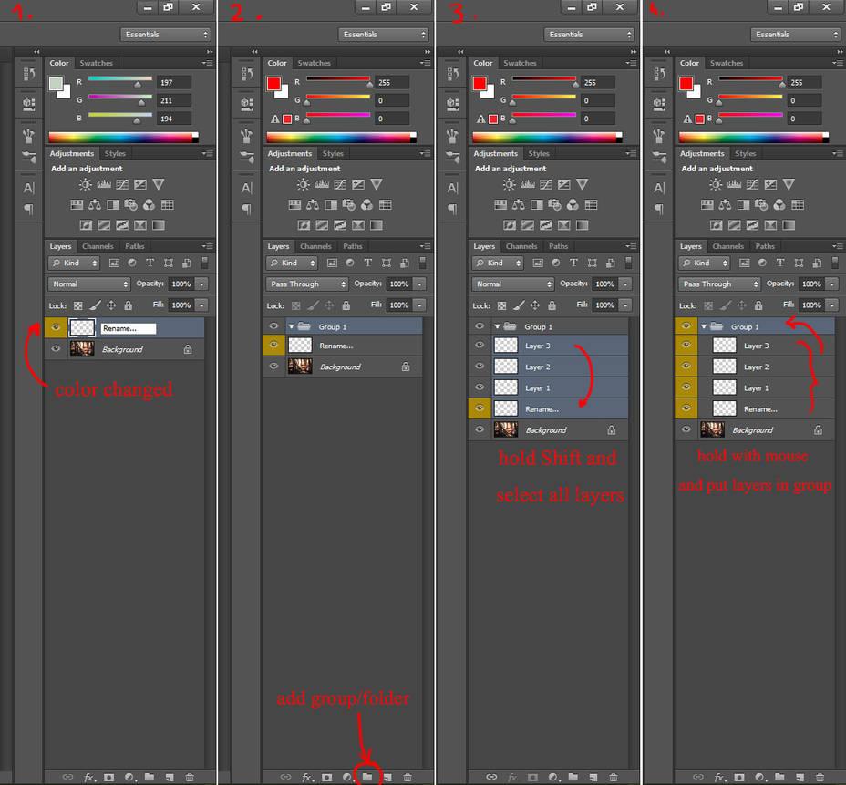 Photoshop basics2-groups by Valentina-Remenar