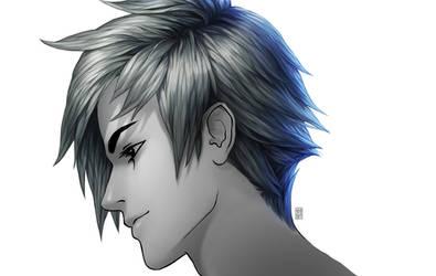 Painting anime hair...image