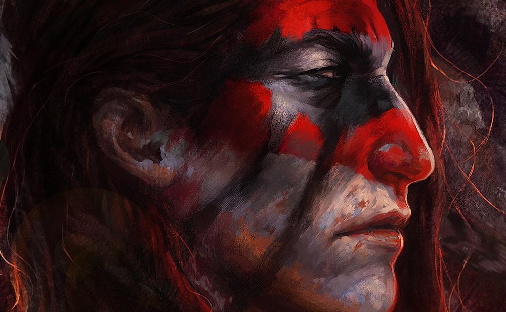 Wild Spirit-face closeup by tincek-marincek