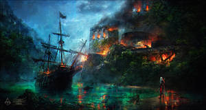 Assassin's Creed IV - Naval Fort by Valentina-Remenar