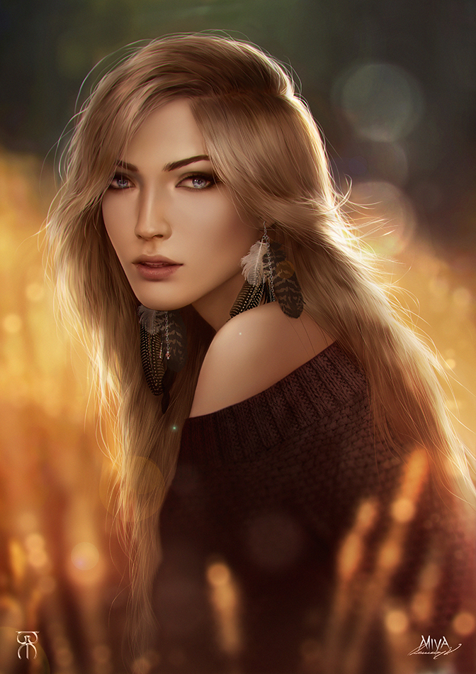 Golden Field by Valentina-Remenar