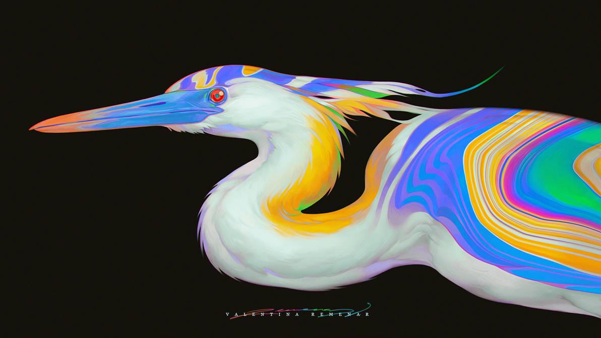 Heron by Valentina-Remenar