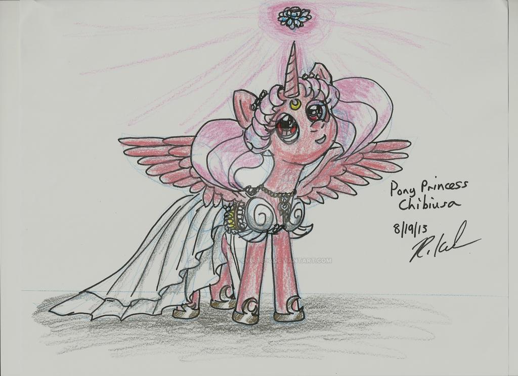 Sailor Moon/MLP- Pony Princess Chibiusa by Madame-Finitevus1890