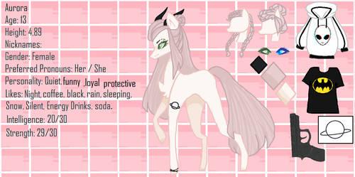 + Aurora + Ponysota ref sheet by Miss-DumpAss