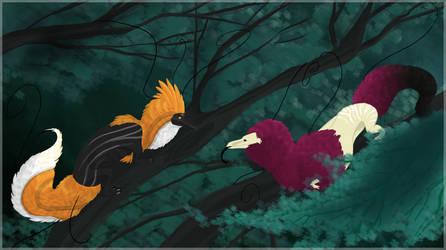 Treetop Conversations by Kdaea