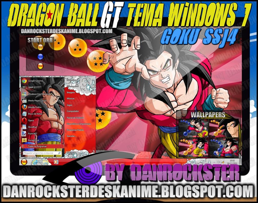 Goku SSJ4 Theme Windows 7 by Danrockster