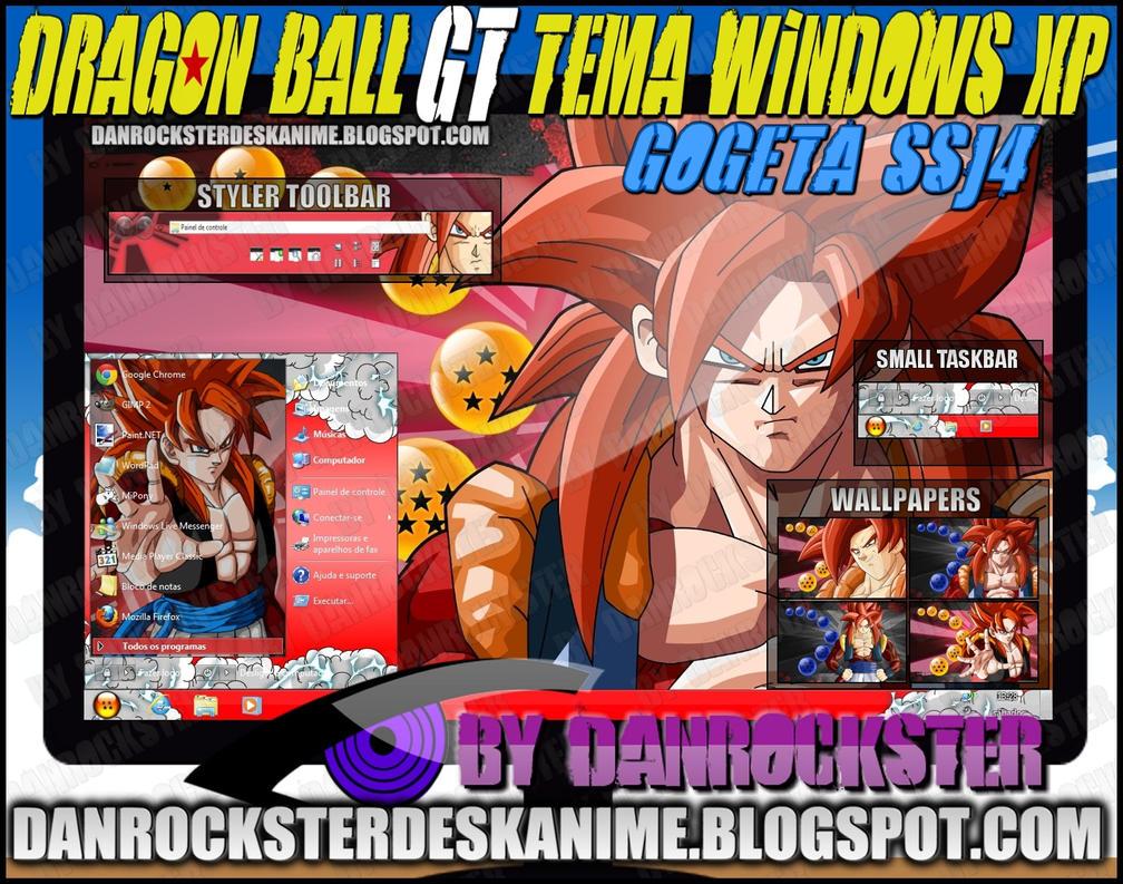 Gogeta SSJ4 Theme Windows XP by Danrockster