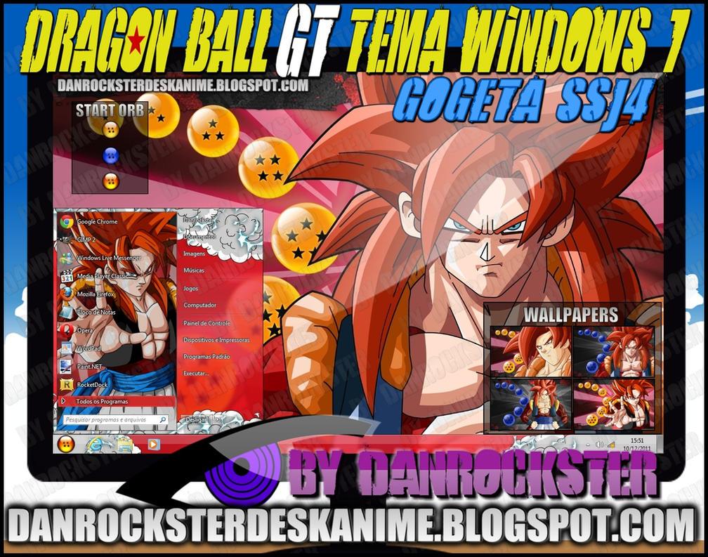 Gogeta SSJ4 Theme Windows 7 by Danrockster