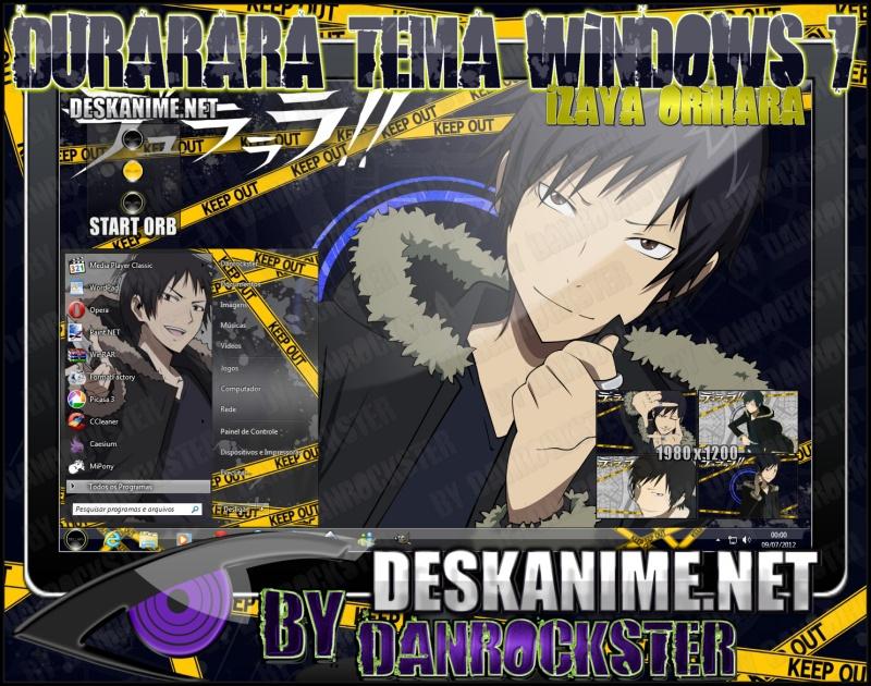 Izaya Orihara Theme Windows 7 by Danrockster