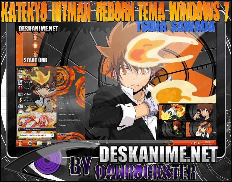 Tsuna Sawada Theme Windows 7 by Danrockster