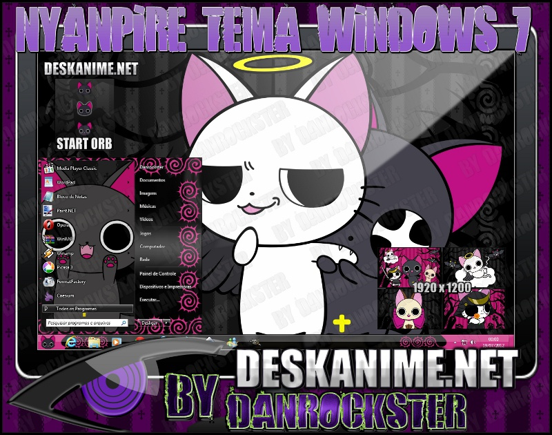Nyanpire Theme Windows 7 by Danrockster