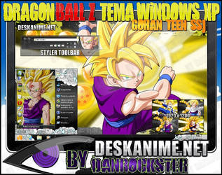 Gohan Teen SSJ Theme Windows XP by Danrockster