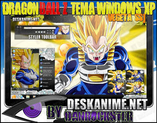 Vegeta SSJ Theme Windows XP by Danrockster