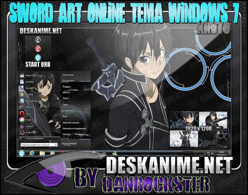 Kirito Theme Windows 7 by Danrockster