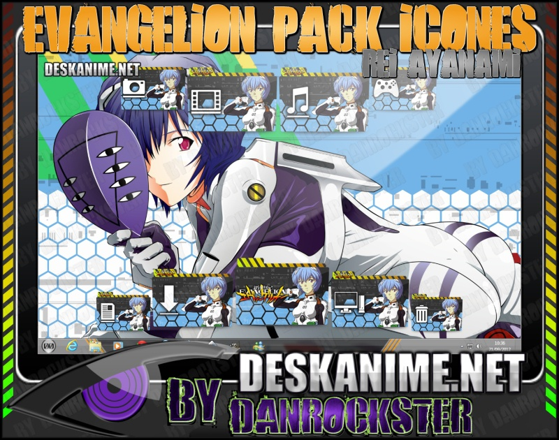 Rei Ayanami Pack Icones by Danrockster