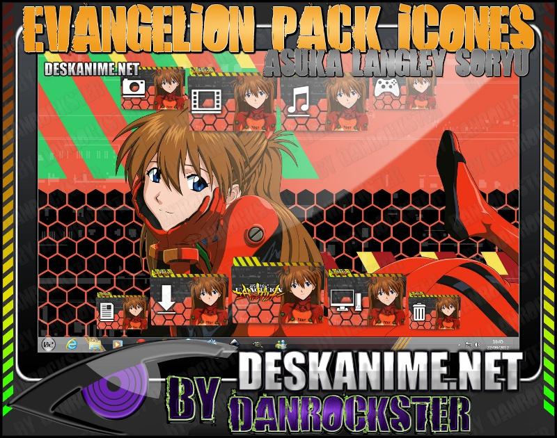 Asuka Langley Soryu Pack Icons by Danrockster