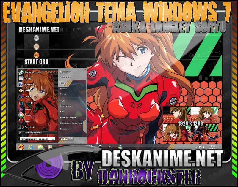 Asuka Langley Soryu Theme Windows 7 by Danrockster