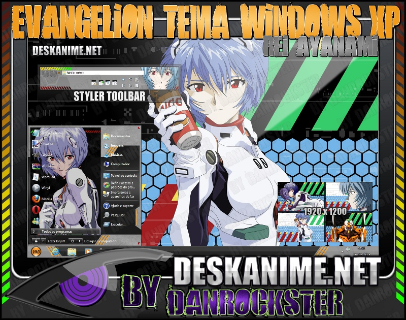 Rei Ayanami Theme Windows XP by Danrockster