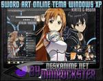 Kirito and Asuna Theme Windows XP
