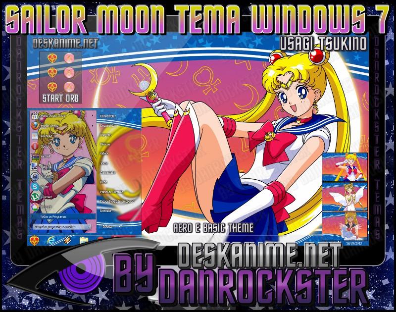 Usagi Tsukino Tema Windows 7 by Danrockster