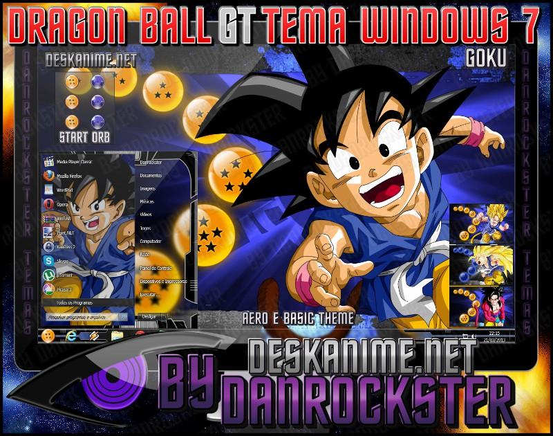 Goku Theme Windows 7 by Danrockster