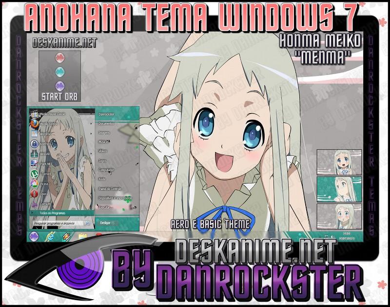 Menma Theme Windows 7 by Danrockster