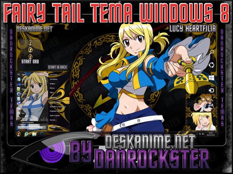 Fairy Tail Skins Windows 8 Themes Windows xp Fairy Tail