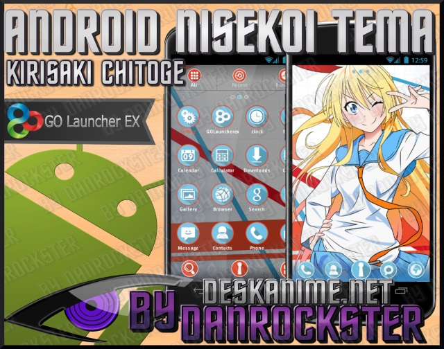 Kirisaki Chitoge Android Theme by Danrockster