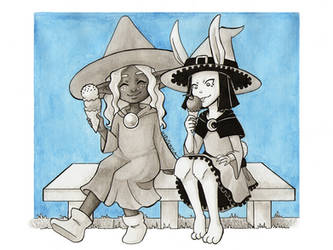 Ice cream buddies :: Witchtober 2018 by x-Hypotermia-x