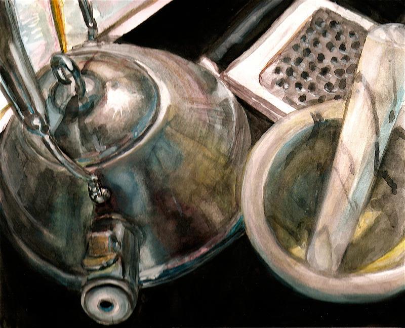 Gouache Kitchen by AikoTakada