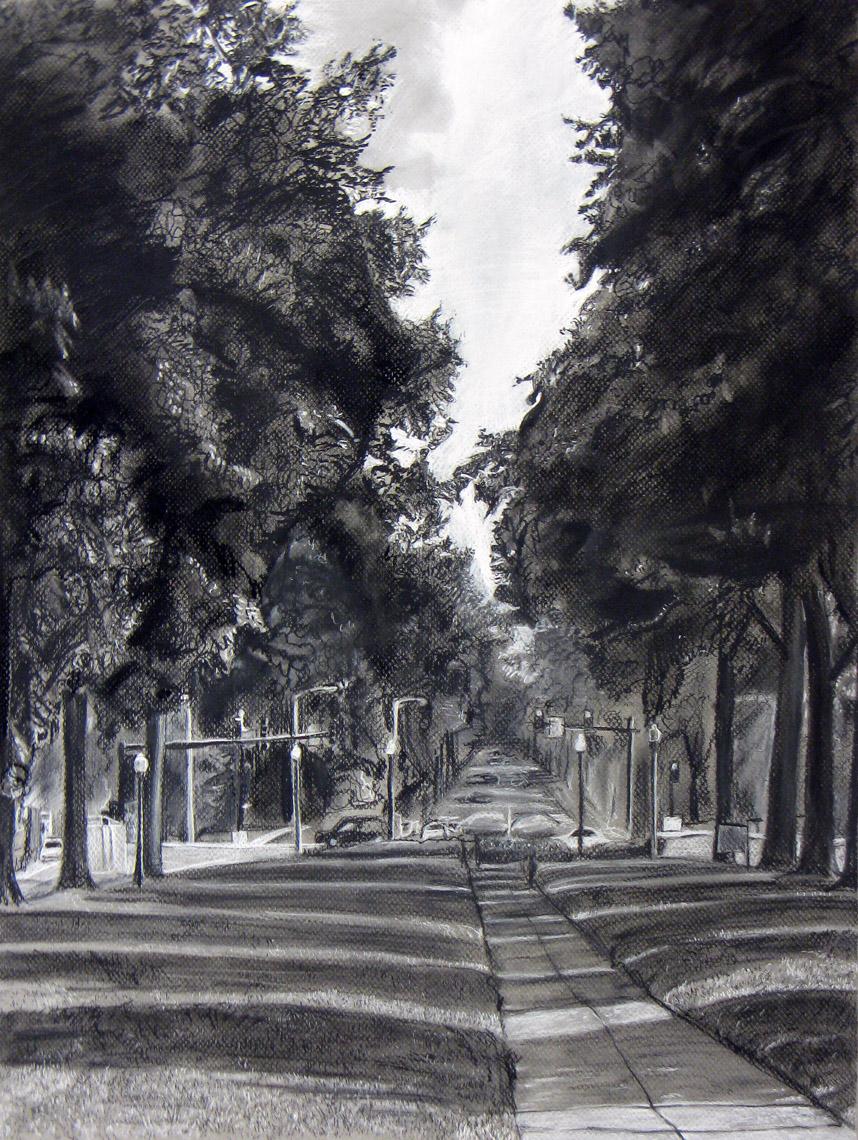 landscape charcoal sketches - photo #7
