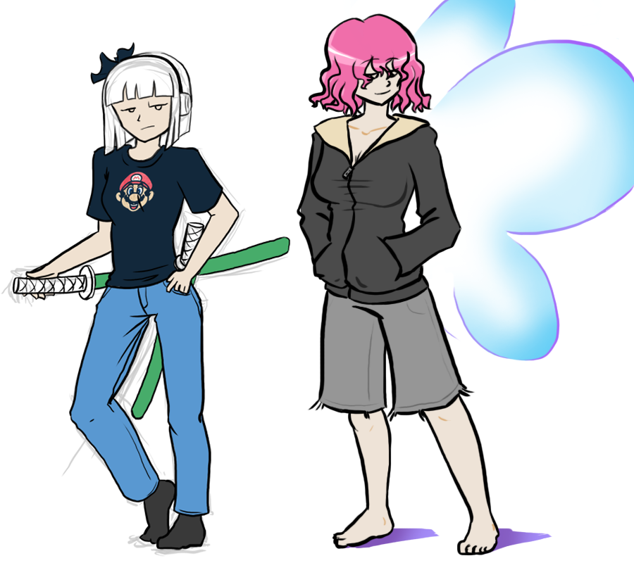 My Clothes Youmu and Yuyuko by LCom
