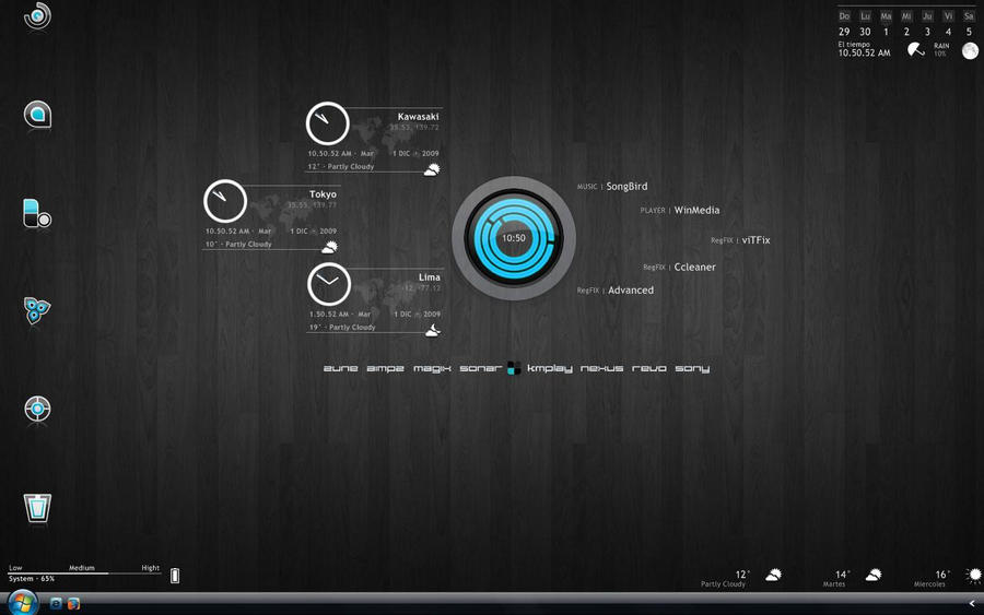 Rainmeter Desktop 1Dic2009 by Demolitionation