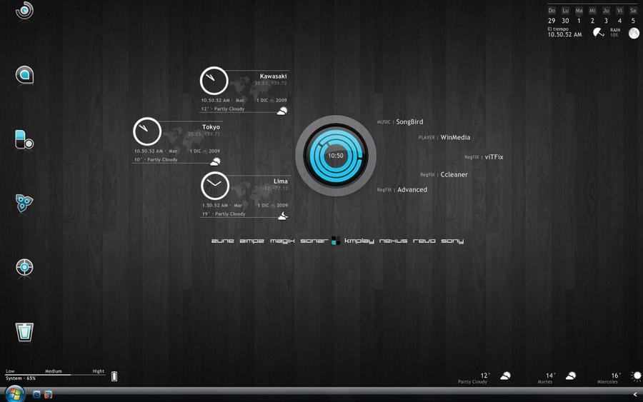 Rainmeter Desktop 1Dic2009 by Demolitionation