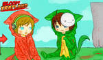 chibi Pewds and Cry in Bloody Trapland