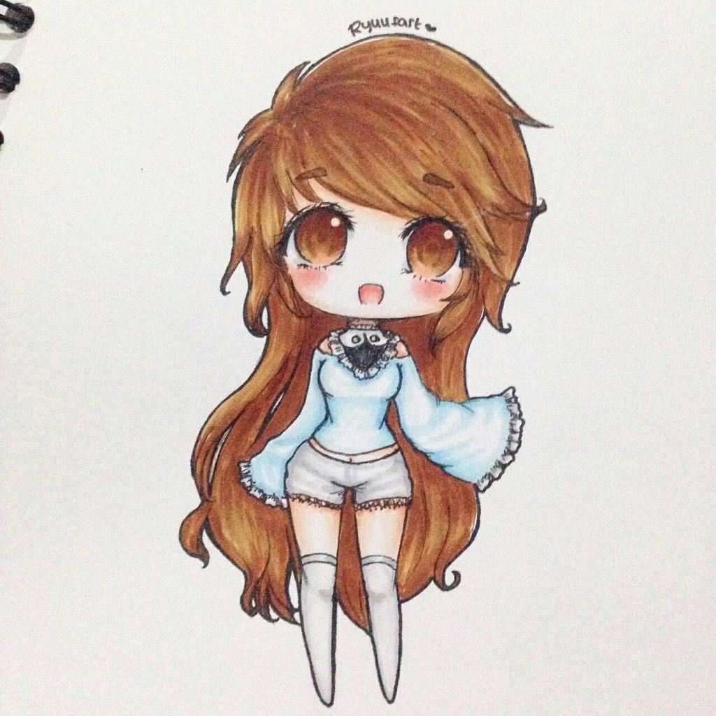 How To Draw Kawaii Girl Anime Chibi Cat Girl Winter